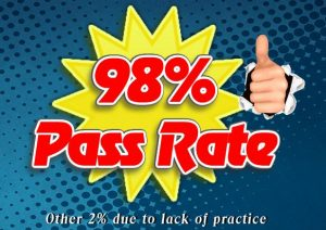98% Pass Rate Driving Test