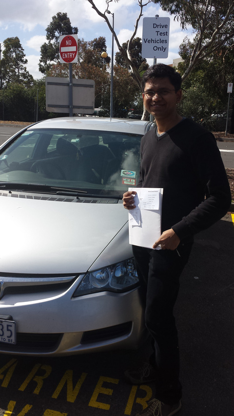 Amit Passes the Driving Test