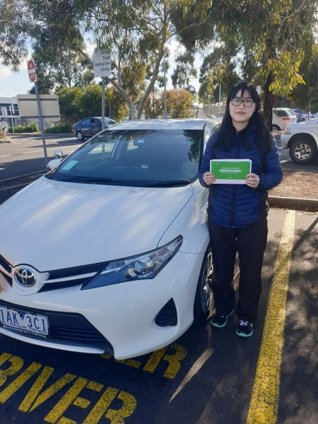 Laurissa for passing her driving test 1st go at Broadmeadows vicroads600