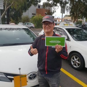 Michael Passes the driving Test