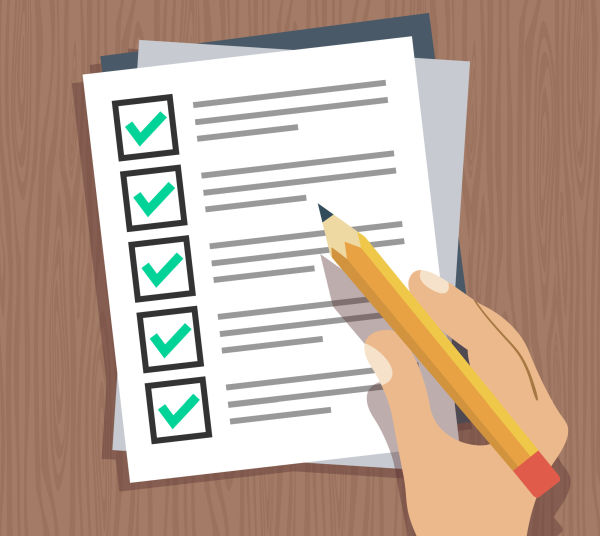 Driving Lessons Checklist
