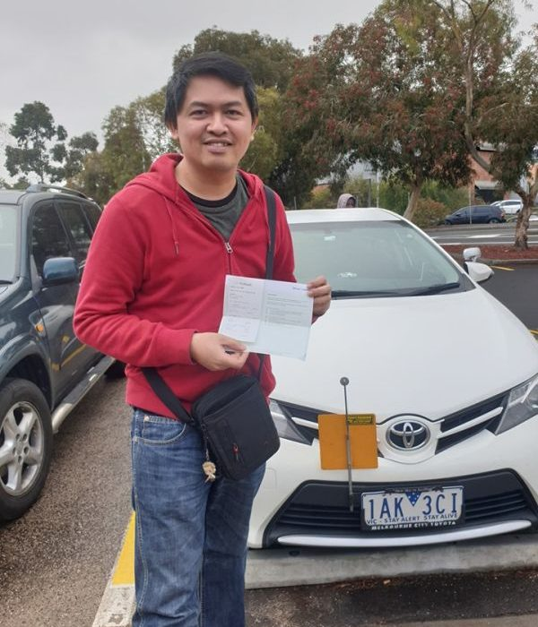 Argel Passes The Driving Test
