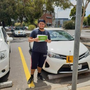 Congrats to Faaris on his Driving Test!
