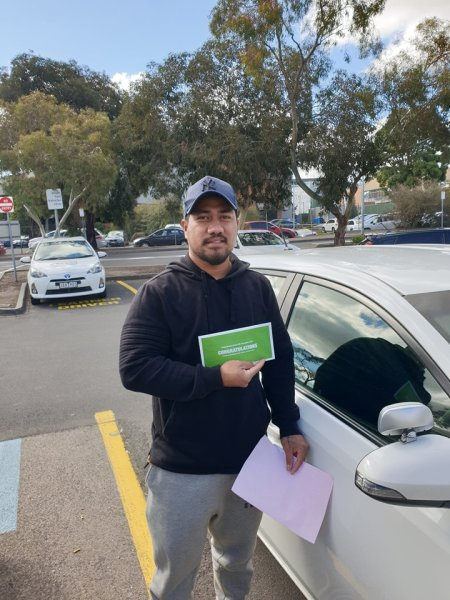 junior for passing his driving test at Broadmeadows vicroads600