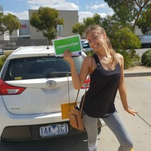 Congrats Lucinda with Your Driver's Licence